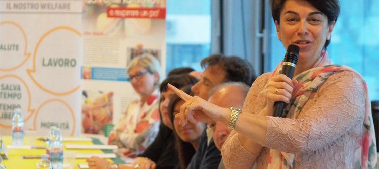 La presidente Mirella Paglierani all'assemblea 2018